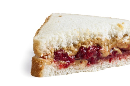 Close-up image of a sandwich with jelly and peanut butter filling Stock Photo - 17486503