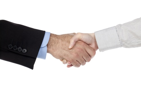 Illustration of two human hands doing a hand shake