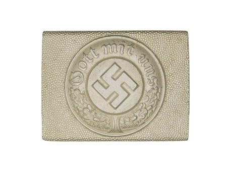 Close-up shot of a German army belt buckle with swastika sign on it. Stock Photo - 17488683