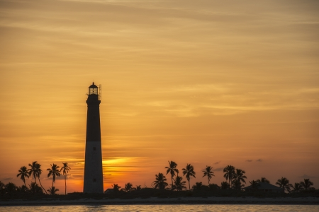 dry tortugas: Lovely sunset at Dry Tortugas showing the lighthouse