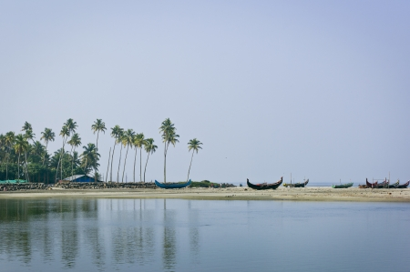 A view of the shoreline in Arthungal, India