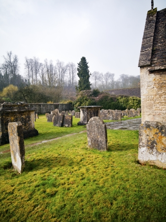 A green cemetery in Cotswold England