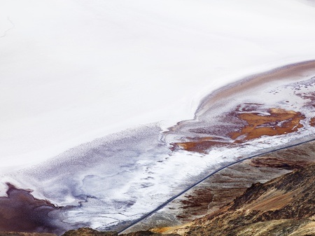 View of a beautiful salt, cratered land in Death Valley. Stock Photo - 17487731