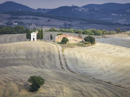 Mooie zachte Toscaanse natuur in Italië Stockfoto