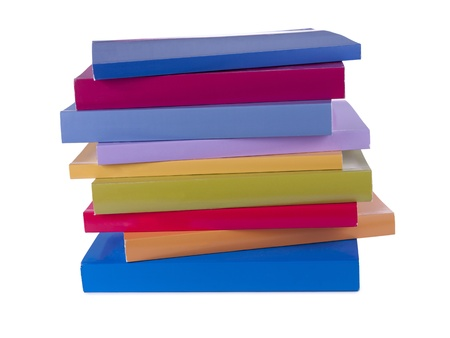 A pile of colorful notebooks Stock Photo photo