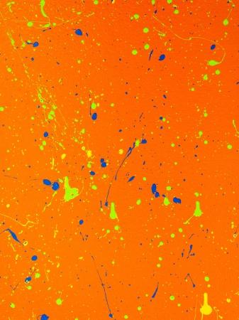 Illustration of abstract orange background with paint splash Stock Illustration - 17494074