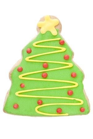 shaped: Yummy Christmas tree shaped cookie Stock Photo