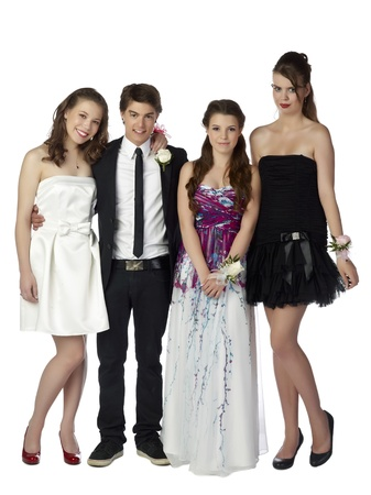 prom queen: Image of group of happy teenagers