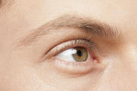 Close up image of male eye photo