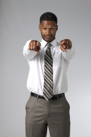 African american man pointing towards the camera Stock Photo - 17521218