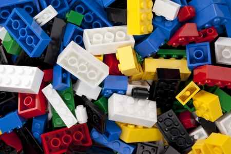 Assorted lego background Stock Photo