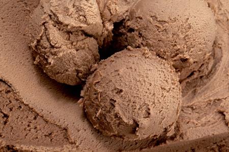 Close up image of scoops of chocolate ice cream photo