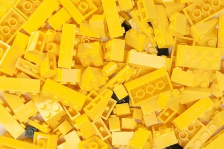 Macro image of yellow bricks background