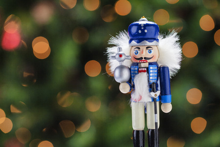 Beautiful and colorful stock imges of holiday nutcracker ornament decoration