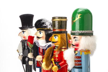 Traditional Figurine Christmas Nutcracker isolated on white Stok Fotoğraf