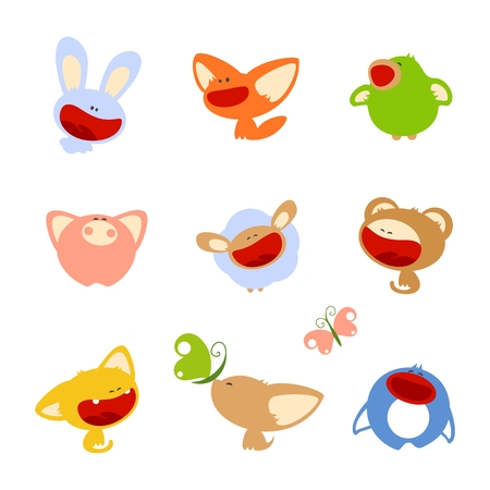 set of images of cute baby animals Stock Vector - 5952266