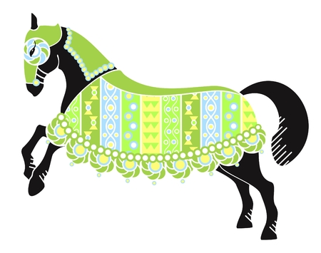 stylized image of a black horse on a white background Stock Vector - 6222254