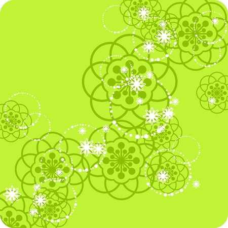 green floral pattern Stock Vector - 6222261