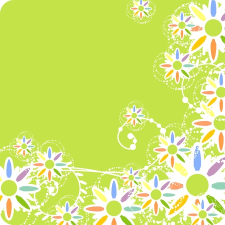 Colorful floral pattern Stock Vector - 6322584