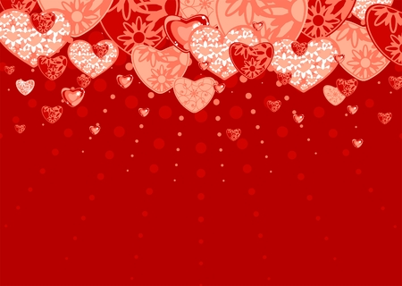 Red love background Stock Vector - 6385101