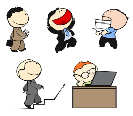 careerist: set of office workers in different situations #2 Illustration