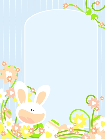 Easter card with bunny Stock Vector - 6582682