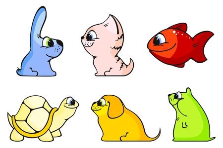 Funny animals Vector