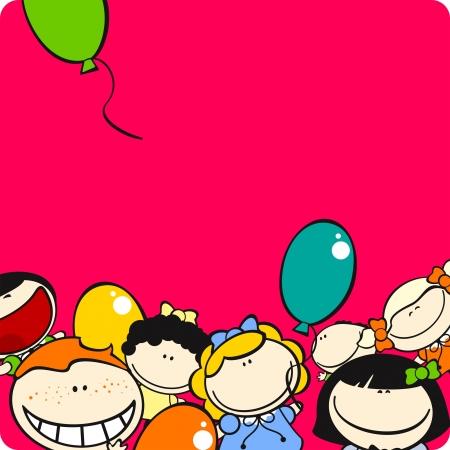 Cute little kids card Stock Vector - 6756865