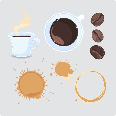 coffee spill: Coffee set