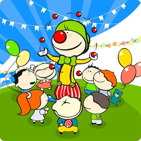 carnival girl: Clown