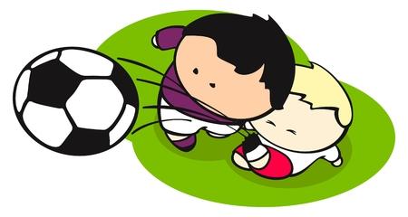Football (soccer) struggle Vector