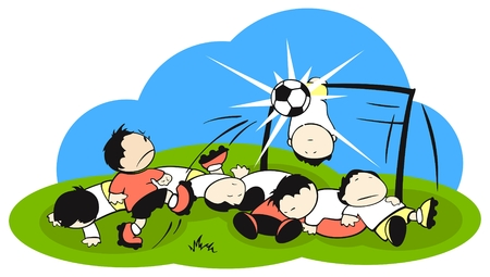 caucasian: Football (soccer) battle field