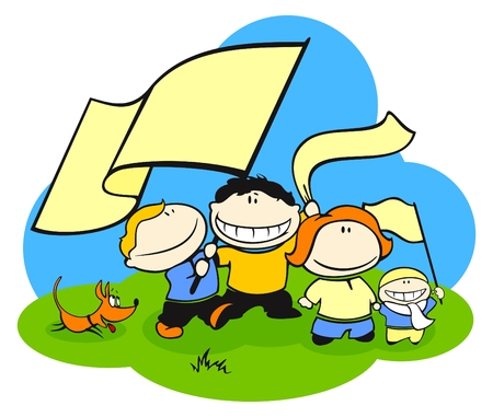 Family of football (soccer) fans Vector