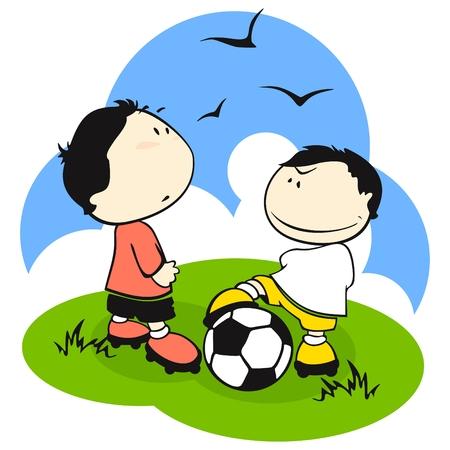 Football (soccer) players Vector