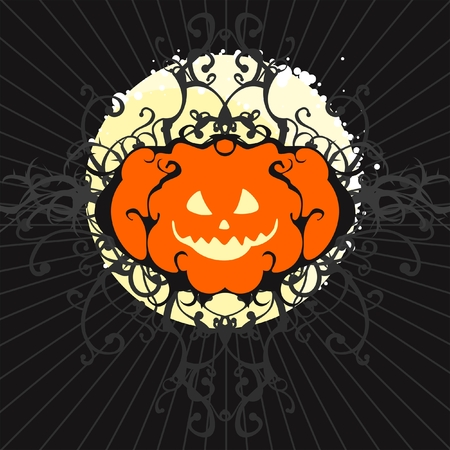 Pumpkin moon Stock Vector - 7998466