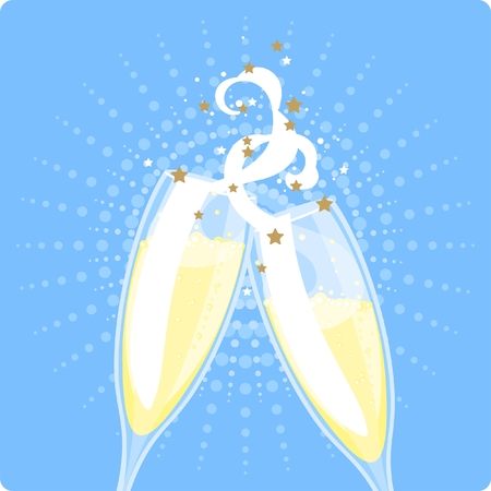 Two champagne glasses Stock Vector - 8420355