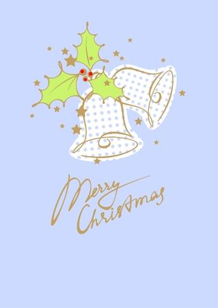 Christmas card with jingle bells Vector
