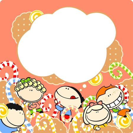 Kids and sweets Illustration