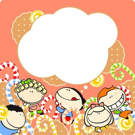 Kinder und Süßigkeiten Vektorgrafik
