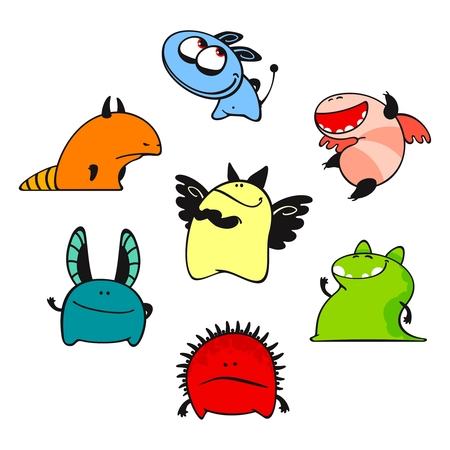 Cute monsters #9 Vector