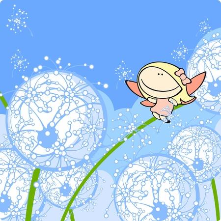 Dandelion fairy Vector
