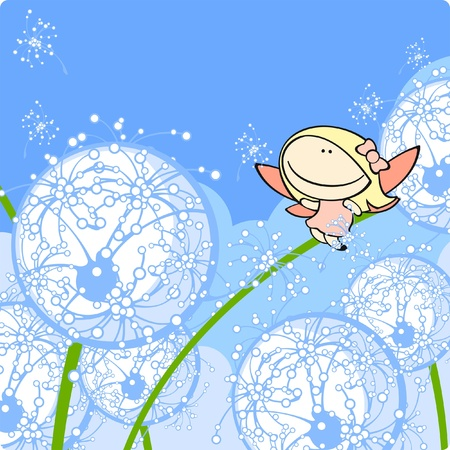 tales: Dandelion fairy Illustration