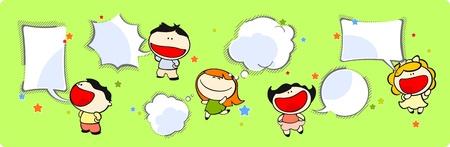 bande dessin�e bulle: Ensemble d'images d'enfants dr�les n � 38, le discours des bandes dessin�es et des bulles penser