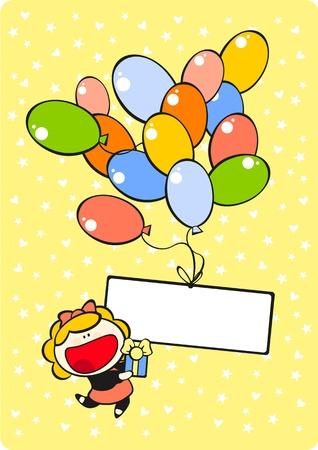 Birthday card with a place for your text Vector