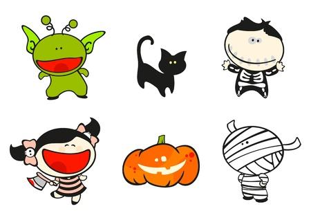 Funny kids #56 - halloween costumes Vector
