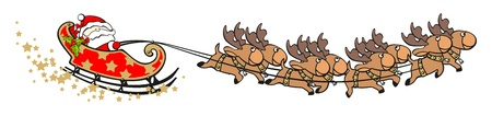 santas sleigh: Santa Claus Illustration