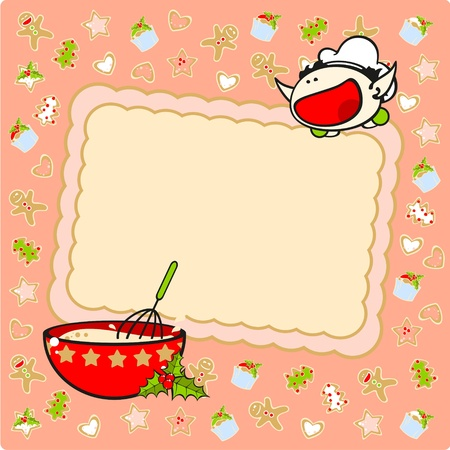 Christmas baking card Vector