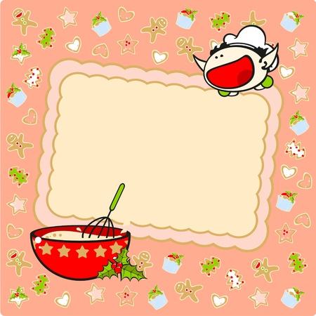 Christmas baking card Stock Vector - 11595699