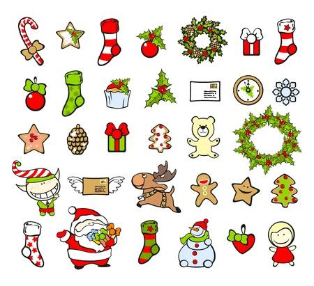 elf christmas: Navidad elementos