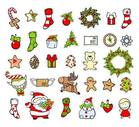 weihnachtskuchen: Weihnachten Elemente